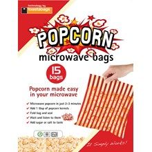 TOASTABAGS - MICROWAVE POPCORN BAG - 15 PACK