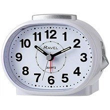 RAVEL - CLASSIC OVAL ALARM CLOCK - WHITE