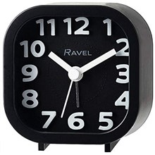 RAVEL - MINI MOULDED ALARM CLOCK - BLACK