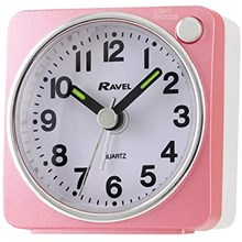 RAVEL - MINI ALARM CLOCK - PINK/SILVER