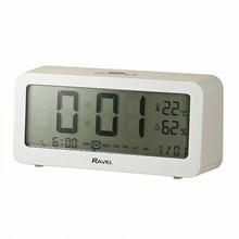 RAVEL - DIGITAL BEDSIDE CLOCK - WHITE