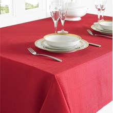 TABLECLOTH 130 X 228CM -  RED