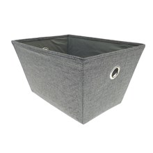 WOVEN STORAGE BASKET - SMALL - CHARCOAL