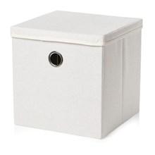 WEAVE STORAGE BOX W/ LID - WHITE