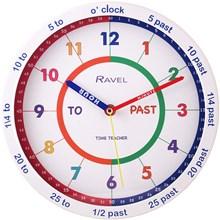 TIME TEACHER WALL CLOCK - WHITE