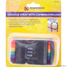 MARKSMAN - LUGGAGE STRAP W/ COMBINATION LOCK