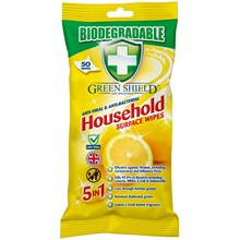 GREEN SHIELD - BIODEGRADABLE SURFACE WIPES - 50PK