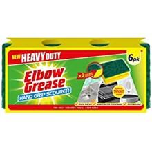 151 -  ELBOW GREASE HAND GRIP SCOURER - 6PK