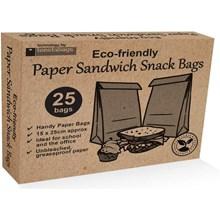 ECO PAPER SANDWICH  BAGS - 25PK