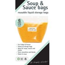 SOUP & SAUCE BAGS - 6PK
