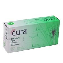 CURA - PREMIUM VINYL GLOVES 100PC - LARGE