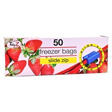 TIDYZ - FREEZER BAGS - SLIDE ZIP - 50 PACK