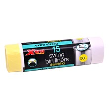 TIDYZ - EXTRA STRONG SWING BIN LINERS - 15 PACK