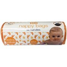 TIDYZ - FRAGRANCED NAPPY BAGS - TIE HANDLE 100PK