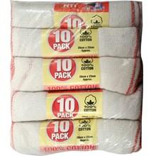 NTI - 100% COTTON DISH CLOTH  - 10 PACK