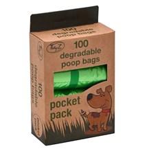 TIDYZ - 100 DEGRADABLE POCKET DOGGY BAGS