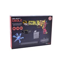ELECTRIC GEL SOFT PISTOL TOY GUN - YELLOW GRAFFITI