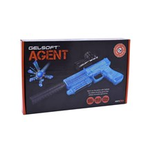 AGENT - GEL SOFT PISTOL GUN - BLUE