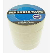 SWL - MASKING TAPE 24MM X 12M - 4 PACK