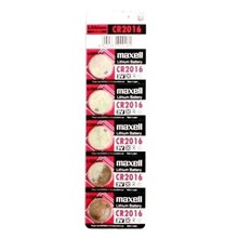 MAXELL CR2016 - 5 PACK TEAR STRIP