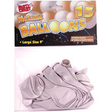 PARTY CRAZE - METALLIC BALLOONS - 15 PACK