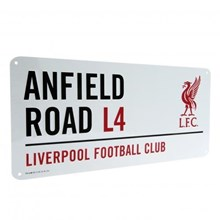 LIVERPOOL FOOTBALL CLUB STREET SIGN