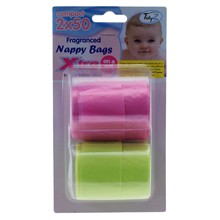 NAPPY BAGS ON A ROLL 2X50