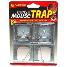PESTSHIELD - METAL MOUSE TRAP - 2 PACK