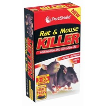 PESTSHIELD - RAT & MOUSE KILLER 4 X 20G