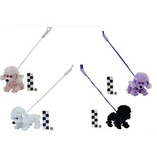 PLUSH POODLE ON STIFF LEAD