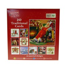 BUMPER PACK 20 TRADITIONAL  X-MAS CARDS