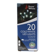 20 COLD WHITE LED CHRISTMAS LIGHTS