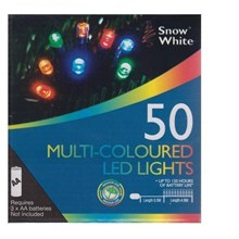 50 MULTI-COLOURED LED CHRISTMAS LIGHTS