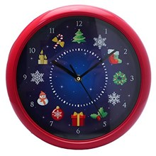 MUSICAL CHRISTMAS WALL CLOCK