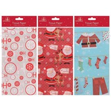 PRINTED TISSUE PAPER AND STICKERS 5 SHEETS