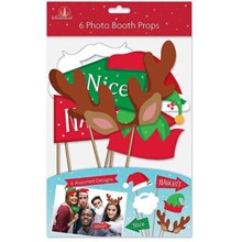 6PC CHRISTMAS PHOTO BOOTH PROPS
