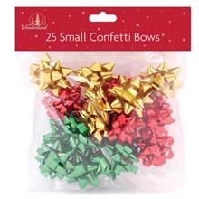 25 SMALL CONFETTI BOWS