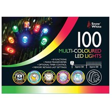 MAINS OPERATED LED LIGHTS - 100 MULTI COLOURED