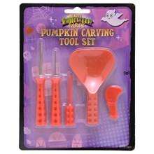 SPOOKY - PUMPKIN CARVING TOOL SET - 5 PACK