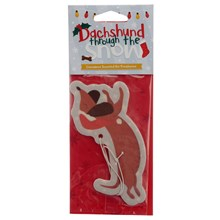 CAR AIR FRESHENER - CHRISTMAS DACHSHUND CINNAMON
