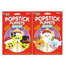 KREATIVE KIDS-CHRISTMAS POPSTICK PUPPETS CRAFT KIT