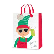 CHRISTMAS GIFT BAG - ELFIE SELFIE - LARGE