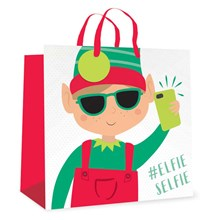 CHRISTMAS GIFT BAG - ELFIE SELFIE - JUMBO