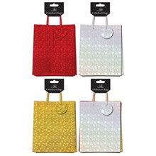 CHRISTMAS GIFT BAG - HOLOGRAPHIC MEDIUM - 3 PACK