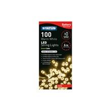 STATUS FAIRY LIGHT BATTERY OPERATED-100 WARM WHITE