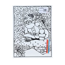 LARGE COLOURING BOARD - SANTA IN THE CHIMNEY