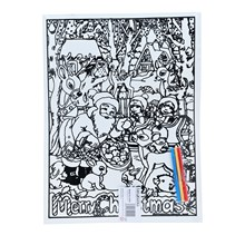 LARGE COLOURING BOARD - SANTA IN THE FOREST