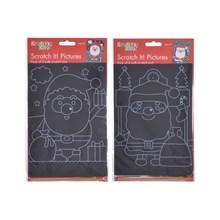 KREATIVE KIDS - CHRISTMAS SCRATCH CARD - 4 PACK