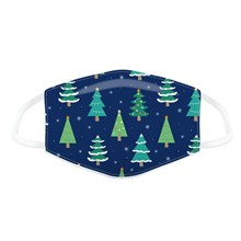 REUSABLE FACE MASK - XMAS TREES - LARGE