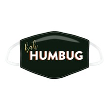 REUSABLE FACE MASK - BAH HUMBUG - LARGE